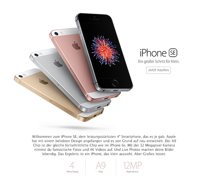 Das neuen Apple-Smartphone iPhone SE