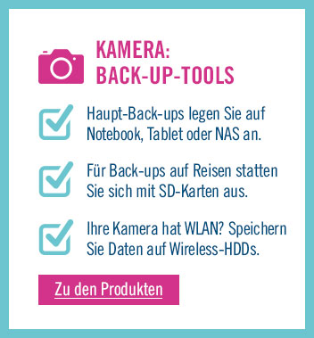 Zu den Back-up Tools für Kameras