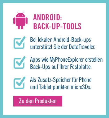 Zu den Back-up Tools für Android