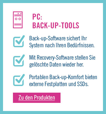 Zu den Back-up Tools für PC