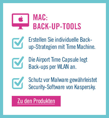 Zu den Back-up Tools für Mac