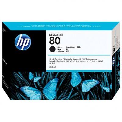 HP  80 Schwarz Tintenpatrone, 350 ml