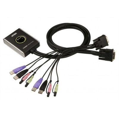 Aten 2-Port USB 2.0 DVI KVM Switch, KVM-Switch