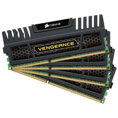 Corsair 16GB (4x4GB)  Vengeance DDR3-1600 CL9 (9-9-9-24) RAM DIMM Kit