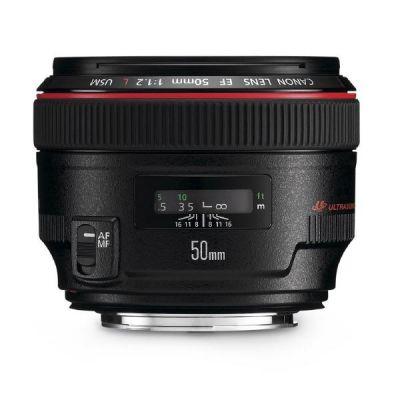 Canon  EF - Objektiv - 50 mm - f/1.2 L USM -  EF - für EOS 1000, 1D, 50, 500, 5D, 7D, Kiss F, Kiss X2, Kiss X3, Rebel T1i, Rebel XS, Rebel XSi