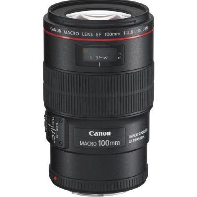 Canon  EF - Makro-Objektiv - 100 mm - f/2.8 L Macro IS USM -  EF - für EOS 1000, 1D, 50, 500, 5D, 7D, Kiss F, Kiss X2, Kiss X3, Rebel T1i, Rebel X