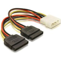 DeLOCK Kabel Power SATA HDD 2x/ 4pin Stecker Molex 60102