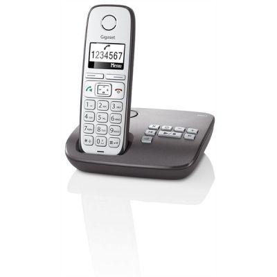 Gigaset E 310 A Schnurlostelefon mit Anrufbeantworter anthrazit