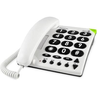 Doro PhoneEasy 311c schnurgebundenes Großtastentelefon (analog), weiß