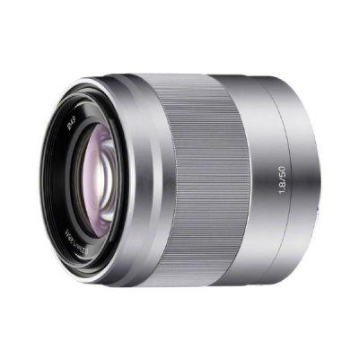 Sony E 50mm F1.8 OSS Porträt Objektiv E-Mount (SEL-50F18) silber