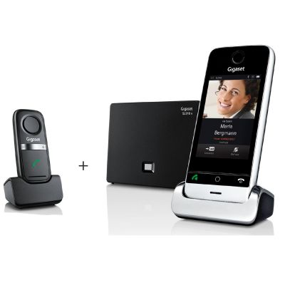 Gigaset SL910A schnurloses Festnetztelefon inkl. AB & L410 Freisprech-Clip