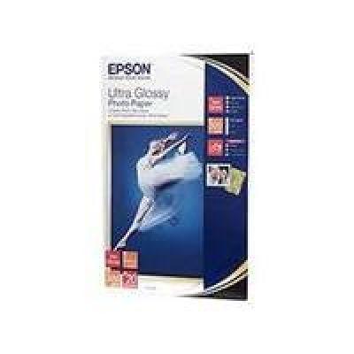 EPSON C13S041926 Ultra Glossy Photo Paper Fotopapier, glänzend, 20 Blatt