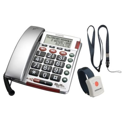 Audioline BigTel 50 Alarm Plus schnurgebundenes Großtastentelefon (analog)