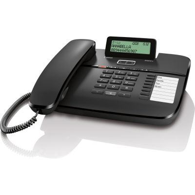 Gigaset DA810A schnurgebundenes Festnetztelefon (analog), schwarz