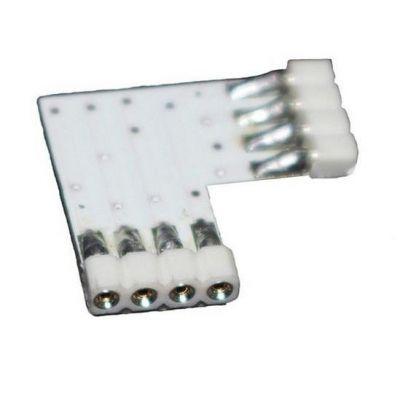 Samsung Eckverbinder (weiß) für vierpolige RGB LED Streifen