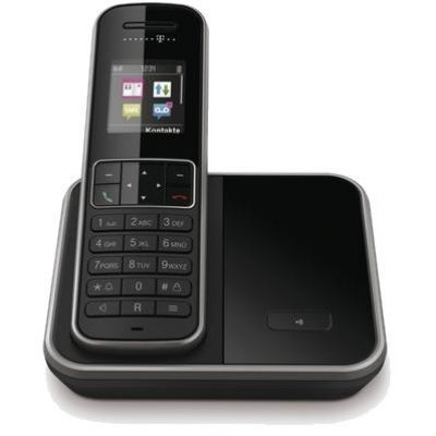 Telekom Sinus 406 schnurloses Festnetztelefon (analog), schwarz