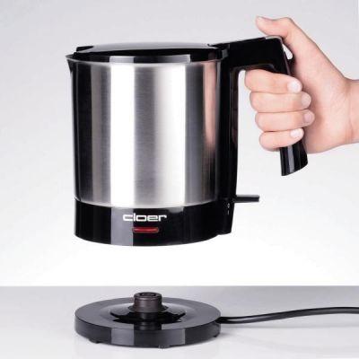 Cloer  4700 Wasserkocher 1,5 Liter Schwarz-Edelstahl