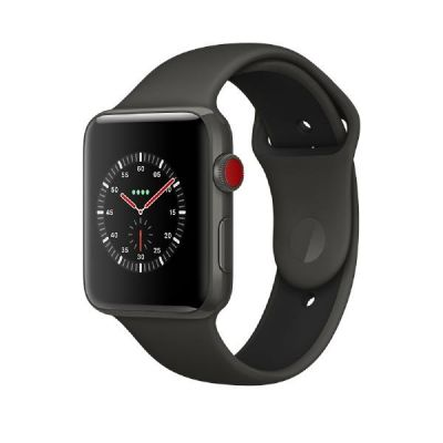 Apple Watch Edition Series 3 LTE 42mm Keramikgehäuse Grau Sportarmband Grau