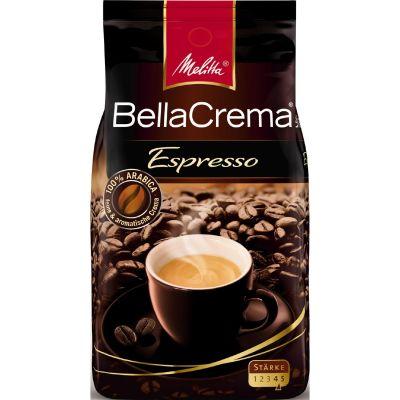 Melitta BellaCrema Espresso 1000g Ganze Bohnen Vollautomatenkaffee