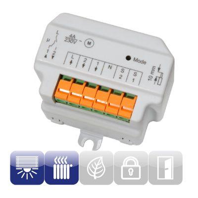 HomeMatic Funk-Rollladenaktor 1-fach, Unterputzmontage, Schalter