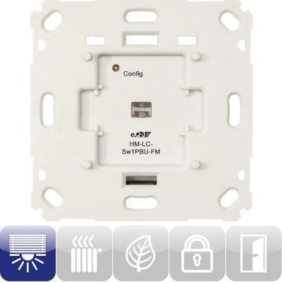 HomeMatic 103029 Funk-Schaltaktor 1-fach für Markenschalter HM-LC-Sw1PBU-FM