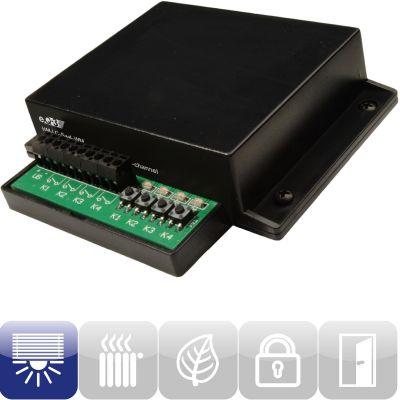 99082 Funk-Schaltaktor 4-fach Wandmontage HM-LC-Sw4-WM