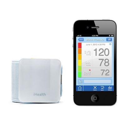 iHealth  Bluetooth Handgelenk Blutdruckmessgerät für iOS und Android, weiss