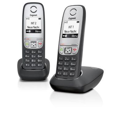 Gigaset A415 Duo schnurloses Festnetztelefon (analog), schwarz