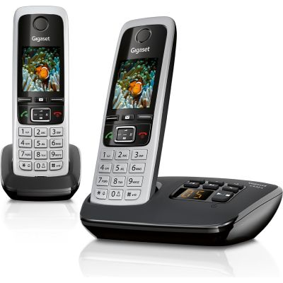 Gigaset C430A Duo schnurloses Festnetztelefon (analog), schwarz