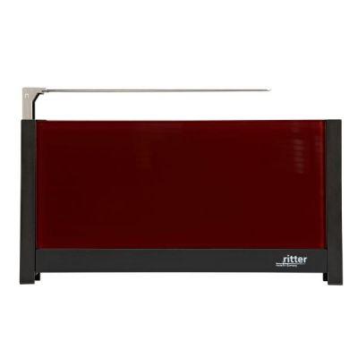 volcano 5 Langschlitz-Toaster mit Glasfronten rot