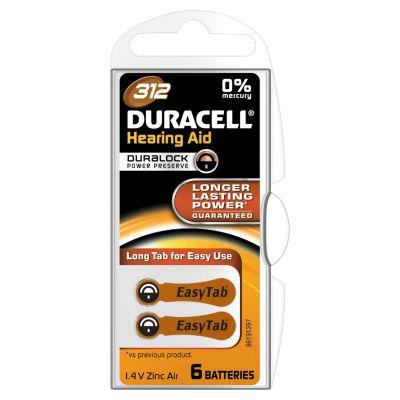 DURACELL EasyTab Hörgerätbatterie DA312 PR41 6er Blister 1,4 V - Preisvergleich