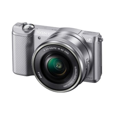 Sony Alpha 5000 Kit 16-50mm Systemkamera silber (ILCE-5000LS)