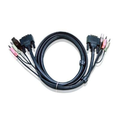 Aten  2L-7D02U Kabelsatz DVI, USB, Audio Länge 1,8m