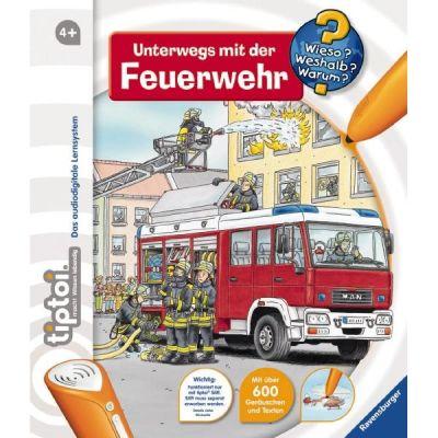 """Ravensburger 581 tiptoi® Buch """"Unterwegs mit der Feuerwehr"""