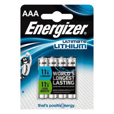 Energizer 1x4 ENERGIZER Ultimate Lithium Micro AAA LR 03 1,5V