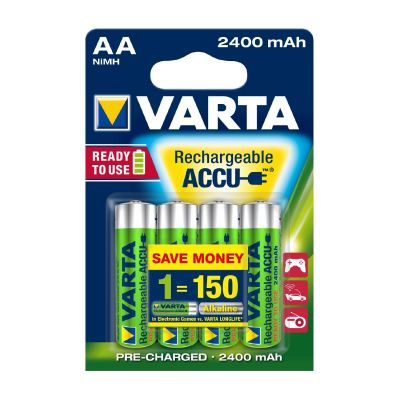 Varta 1x4  Rechargeable Accu AA Ready2Use NiMH 2400 mAh Mignon