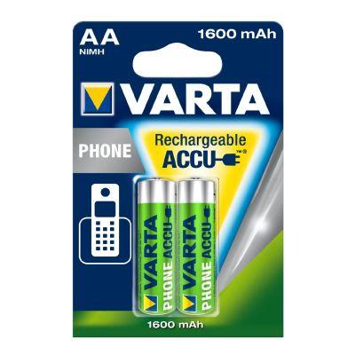 Varta 1x2  Akku Professional Accu NiMH 1600 mAh AA Phone Power