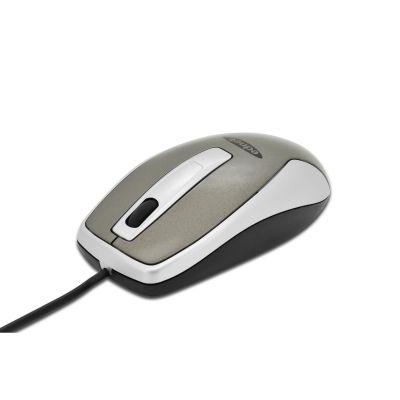 ednet Optische Office Maus 3-Tasten mit Scrollrad grau-weiß