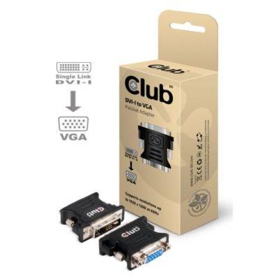 Club3d Club 3D DVI auf VGA Passiver Adapter schwarz CAA-DMA>CFA