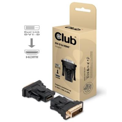 Club3d Club 3D DVI zu HDMI Adapter Stecker schwarz CAA-DMD>HFD3