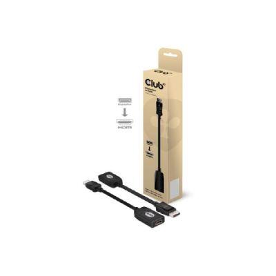Club3d Club 3D DisplayPort auf HDMI Adapter Kabel schwarz CAC-1001