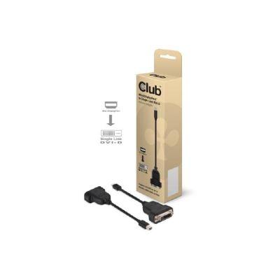 Club3d Club 3D mini DisplayPort auf DVI Adapter Kabel schwarz CAC-1100
