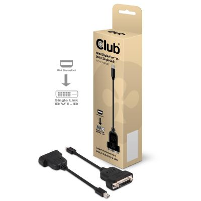 Club3d Club 3D mini DisplayPort auf DVI-Single Adapter Kabel aktiv schwarz CAC-1152