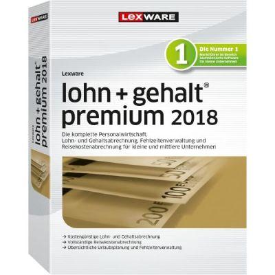 Lexware Lohn+Gehalt premium 2018 (365-Tage Version), Minibox - broschei