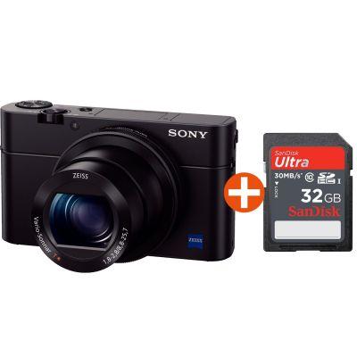 Sony Cyber-shot DSC-RX100 Mark III + 32 GB Speicherkarte