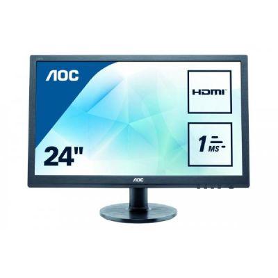"AOC  e2460Sh 61 cm (24"") 16:9 Full HD Gaming Monitor mit 1ms und Lautsprechern"