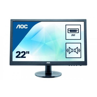 "AOC  e2260sda 55,9 cm (22"") 16:10 Monitor VGA/DVI 5 ms 20.000.000:1 LED"