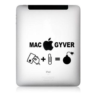 Apfelkleber MacGyver Aufkleber-Folie für iPad schwarz