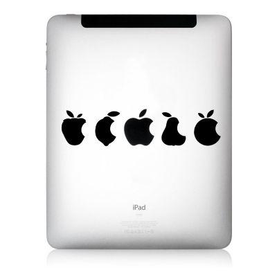 Apfelkleber Multivitamin Aufkleber-Folie für iPad schwarz
