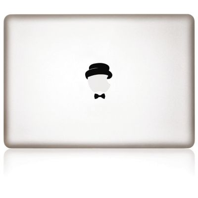 Apfelkleber Dandy Aufkleber-Folie für MacBook schwarz